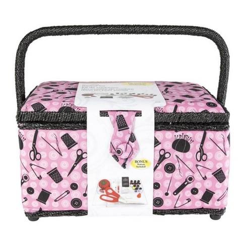 """Singer 11.5"""" x 6"""" x 6.5"""" Sewing Basket - Pink - image 1 of 1"""
