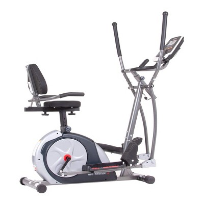 Body Flex Sports Body Champ BRT7989 Stationary Full Body Cardio Elliptical and Bike Trio Trainer Plus 2 Machine with 21 Training Programs