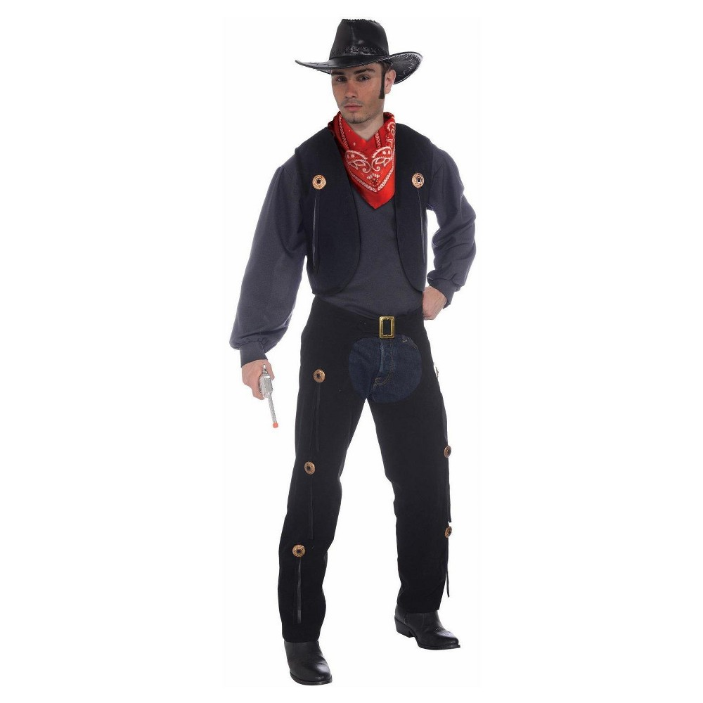 Vest and Chaps Set Adult Standard Costume, Adult Unisex, Multi-Colored