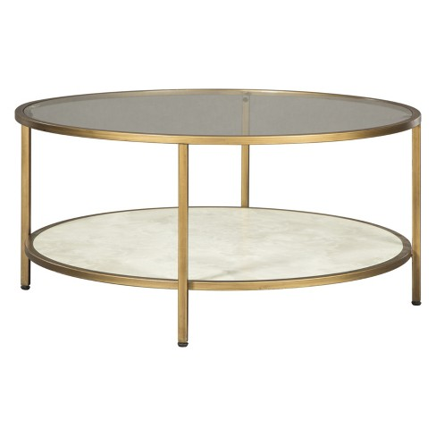 Britzwald Round Tail Table Gold Signature Design By Ashley
