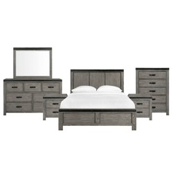 Montauk Panel 6pc Bedroom Set Gray - Picket House Furnishings
