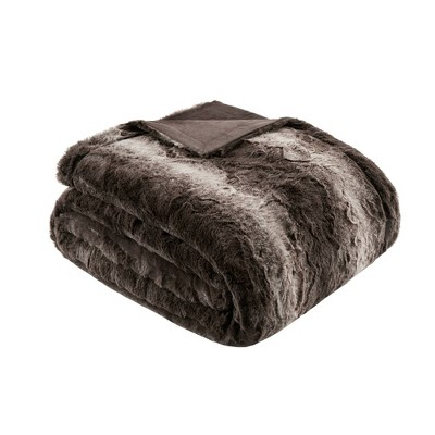 """60""""x70"""" Oversized Marselle Faux Fur Throw Blanket"""