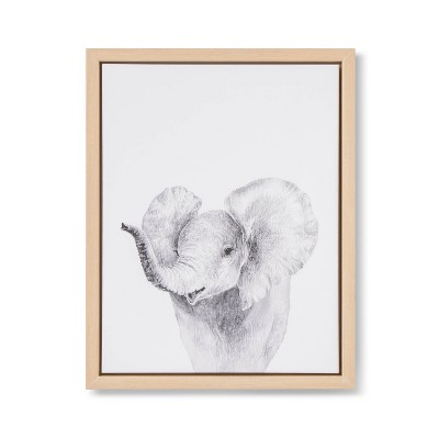 11x14 Framed Canvas Elephant - Cloud Island™