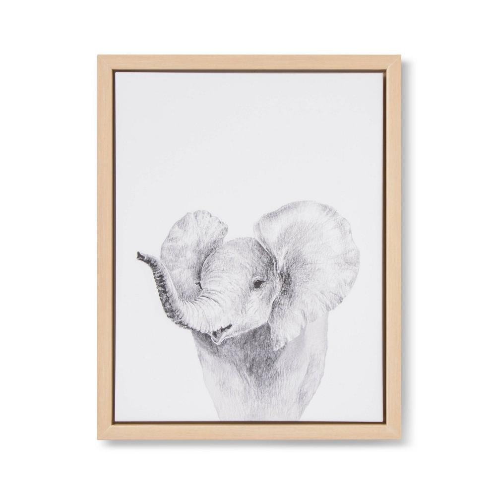 Image of 11x14 Framed Canvas Elephant - Cloud Island