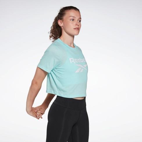 Reebok Identity Cropped T-Shirt Womens Athletic T-Shirts - image 1 of 4