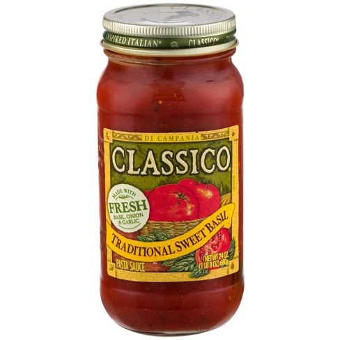 Classico Traditional Sweet Basil Pasta Sauce 24 oz - image 1 of 3