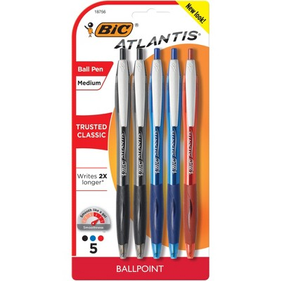 BIC Retractable Ballpoint Pen, 5ct - Multicolor Ink