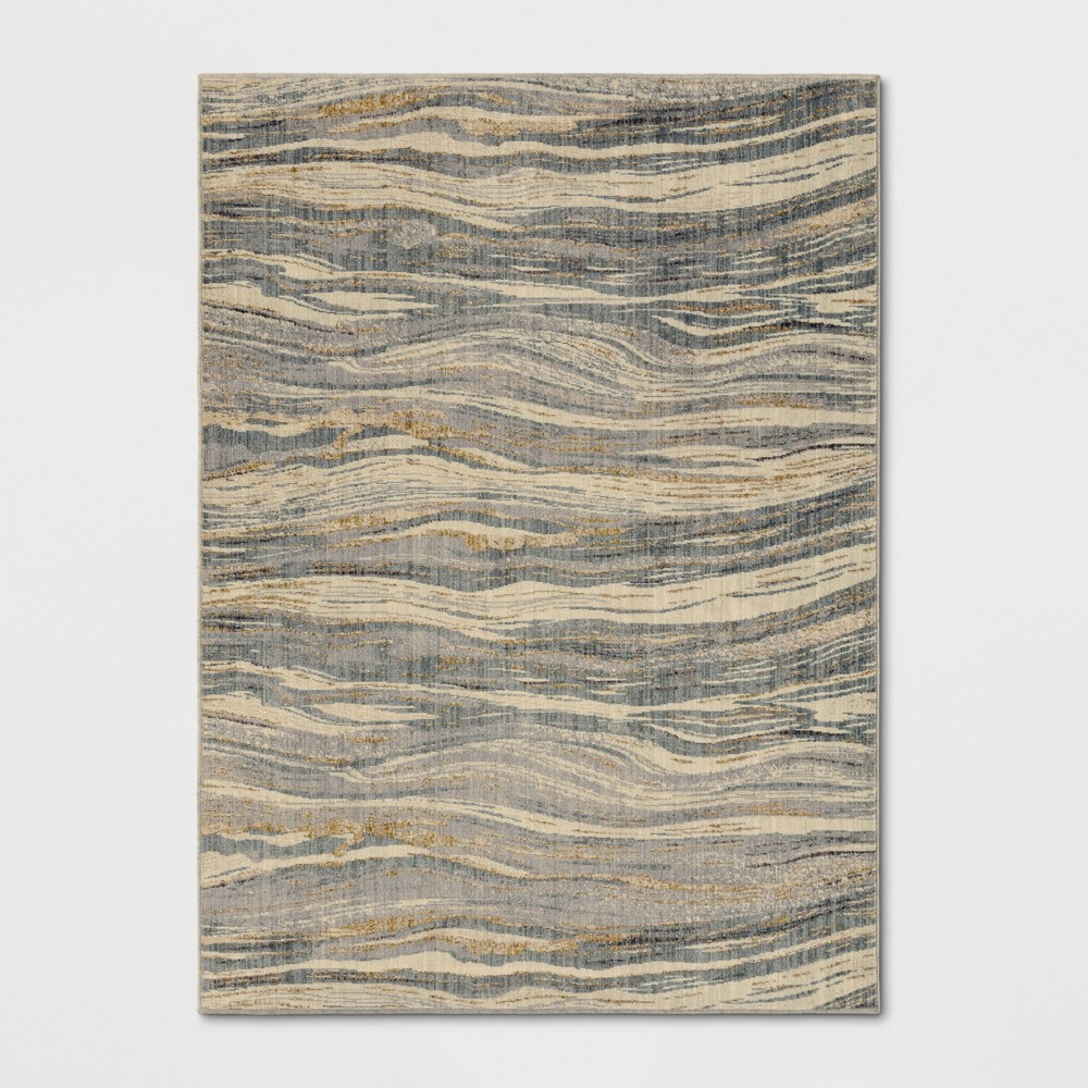 Woven Marble Waves Area Rug