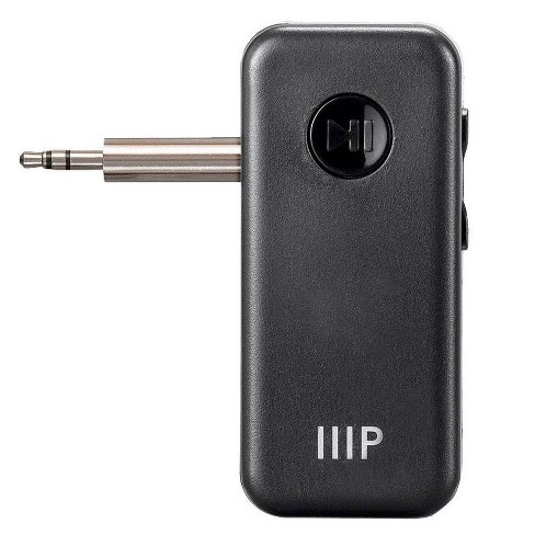 Monoprice Bluetooth 5 Receiver/Car Kit, Portable Wireless Audio Adapter 3.5mm Aux Stereo Output (Bluetooth 5, A2DP, Built-in Microphone) - image 1 of 4