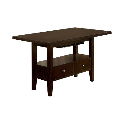 Arlan Rectangular Counter Height Dining Table Brown Cherry - HOMES: Inside + Out