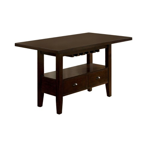 Arlan Rectangular Counter Height Dining Table Brown Cherry Homes Inside Out Target