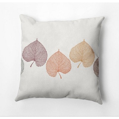 """18""""x18"""" Dancing Leaves Square Throw Pillow - e by design"""