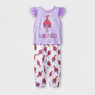 Baby Girls' Trolls 2pc Pajama Set - Purple 12M