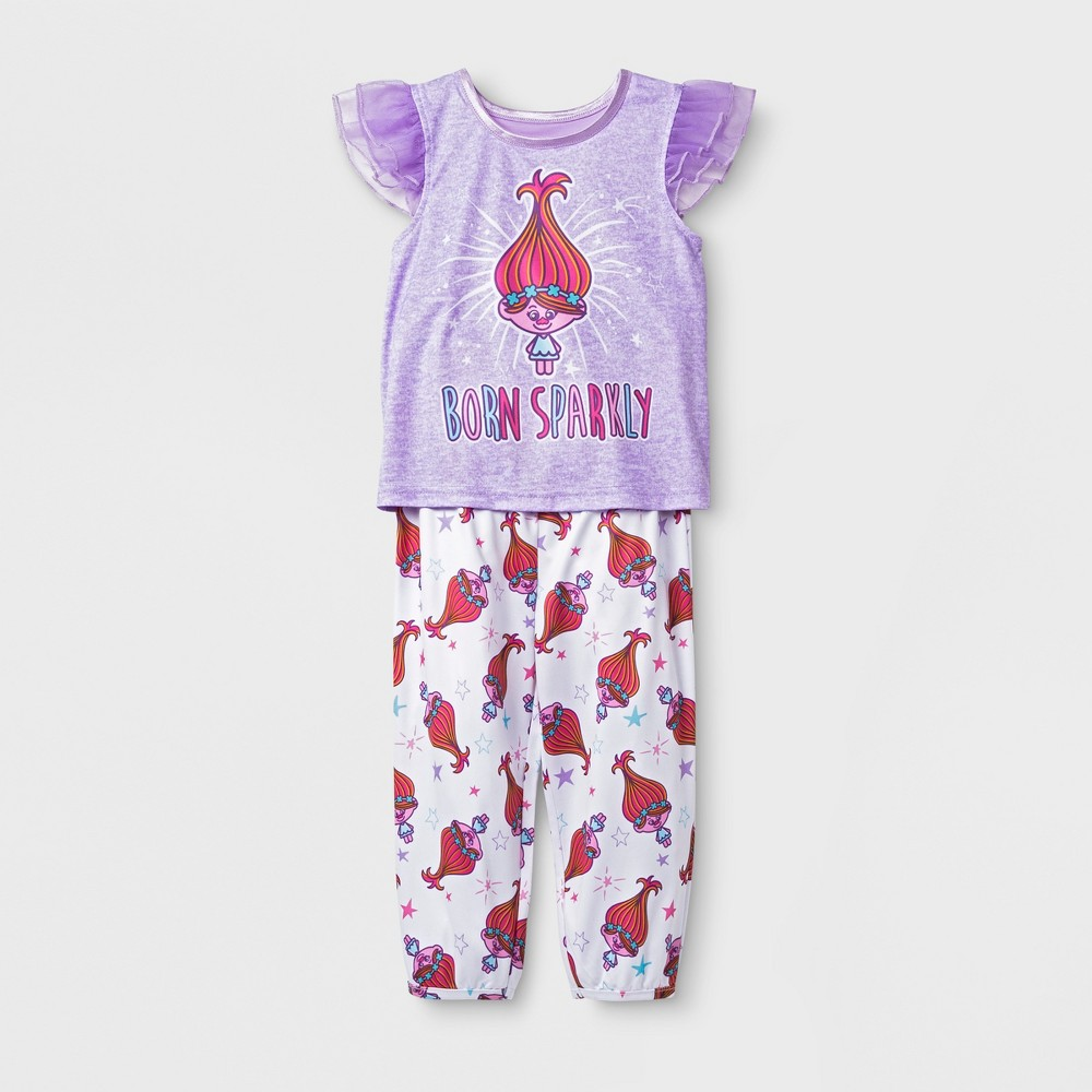 Baby Girls' Trolls 2pc Pajama Set - Purple 18M