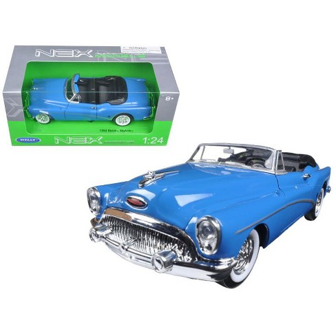 1953 Buick Skylark Convertible Blue 1/24 Diecast Model Car by Welly - image 1 of 1