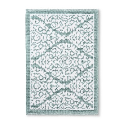 30 x21  Accent Bath Mat Aqua Ogee - Threshold™