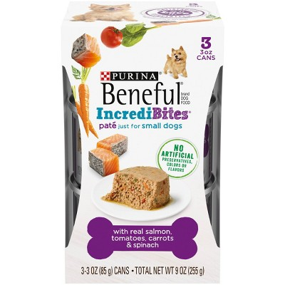 Purina Beneful IndrediBites Pate Small Dog Wet Dog Food - 3oz/3ct Pack