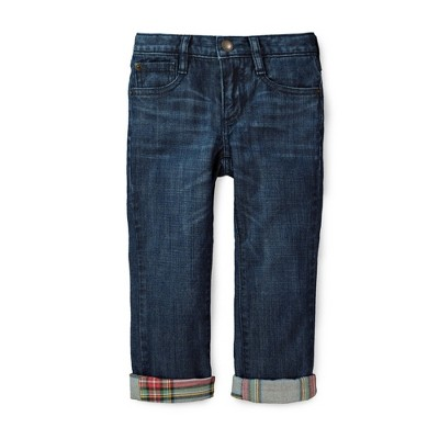 Hope & Henry Boys' Lined Denim Jeans, Toddler