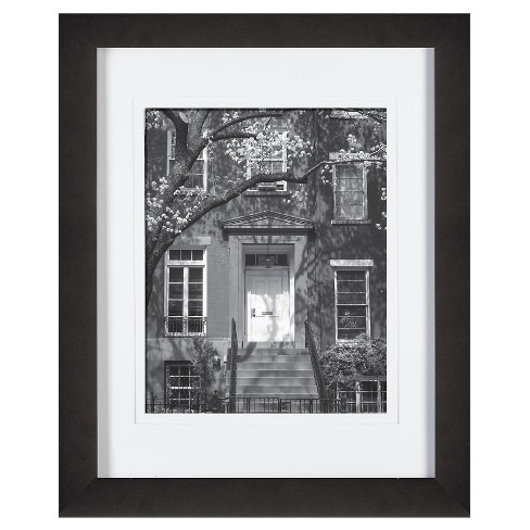 "Gallery Solutions 11""X14"" Frame Matted For 8""X10"" Frame - Black - image 1 of 4"