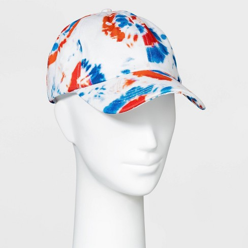 Adult Americana Tie-Dye Baseball Cap - Red/White/Blue One Size - image 1 of 2