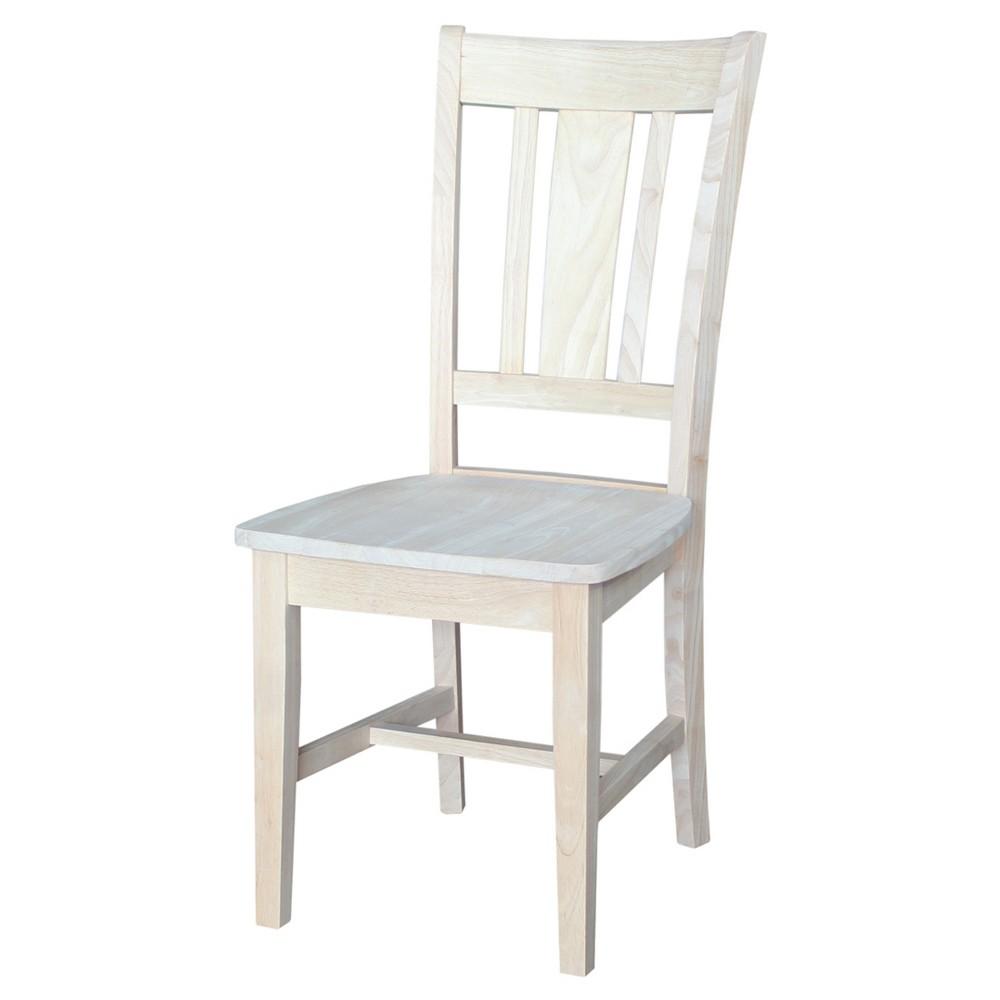 San Remo Splatback Chair (Set of 2) - Unfinished - International Concepts, Wood