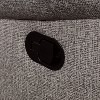 Reston Pillow Top Arms Recliner Love Seat Light Gray - miBasics - image 3 of 4