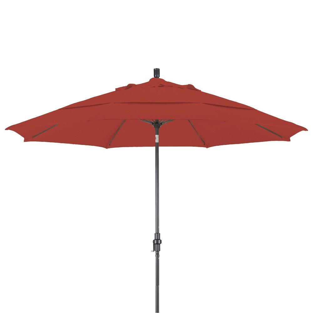 11' Aluminum Collar Tilt Crank Patio Umbrella - Pacifica, Orange