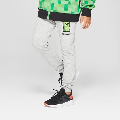 Boys' Minecraft Jogger Pants - Gray - image 1 of 3
