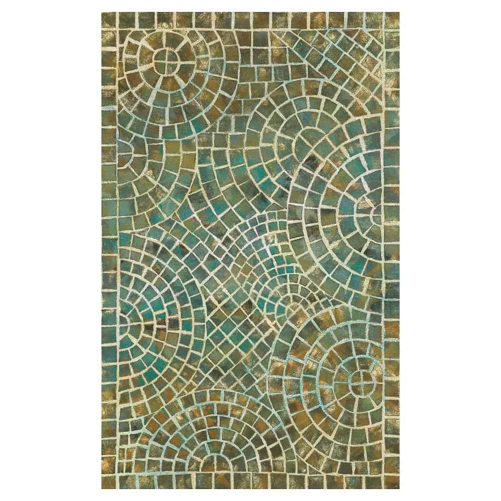 Liora Manne Visions V Arch Tile Indoor/Outdoor Area Rug - Blue (3'6