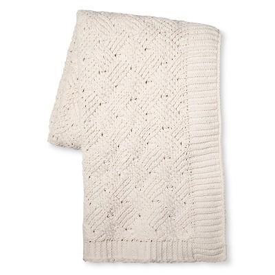 Cream Chenille Basketweave Throw Blanket (50 x60 )- Threshold™