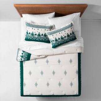 Teal Ornamental Border Comforter Set (Full/Queen) - Opalhouse™