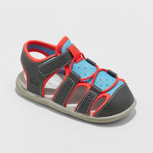 Toddler Boys' See Kai Run Basics Spencer Fisherman Sandals - Black - image 1 of 4