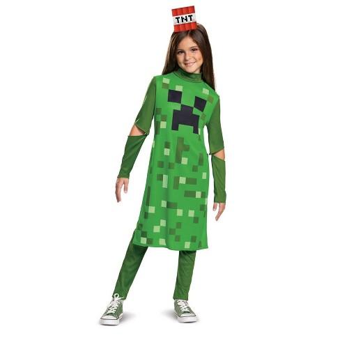Girls' Minecraft Creeper Halloween Costume - image 1 of 1