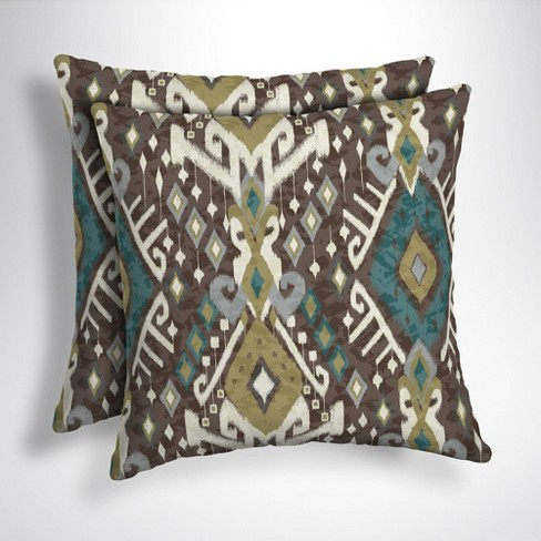 2pk Tenganan Square Outdoor Throw Pillows Arden Selections Target