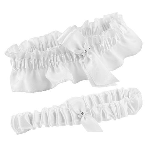 Bling Keep and Toss Garter Set - White - image 1 of 1
