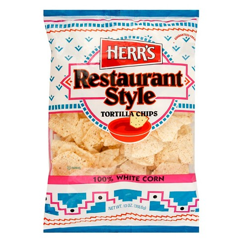 Herr's Restaurant Style White Corn Tortilla Chips - 13oz - image 1 of 1