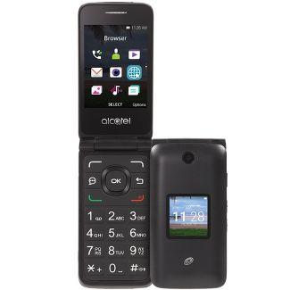 Tracfone Prepaid Alcatel Myflip (4GB) Flip Phone - Gray