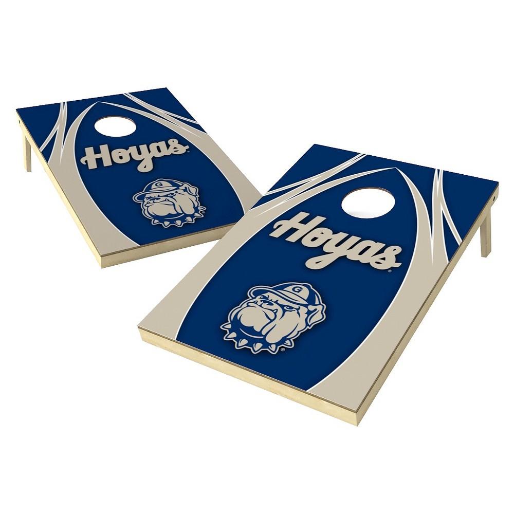 Georgetown Hoyas Wild Sports 2' x 3' V Logo Design Tailgate Toss Platinum Cornhole Set