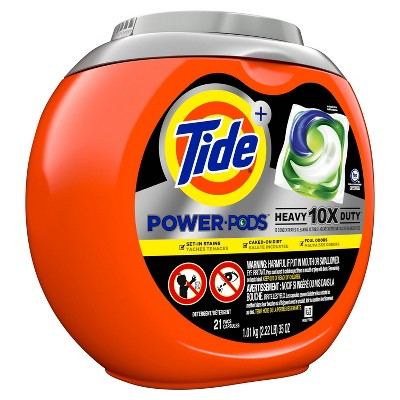 Tide Power Pods Heavy Duty Large Loads Laundry Detergent Pacs - 21ct