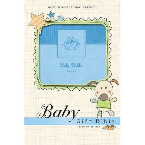 Niv, Baby Gift Bible, Holy Bible, Leathersoft, Blue, Red Letter Edition, Comfort Print - by  Zondervan - image 1 of 1