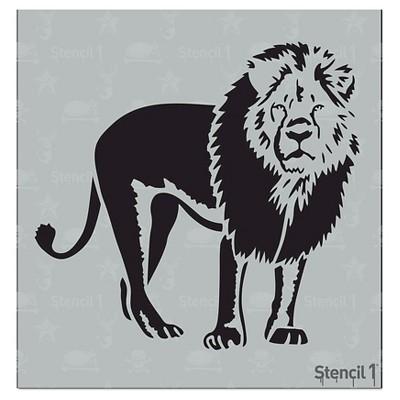 "Stencil1 Lion - Stencil 5.75"" x 6"""