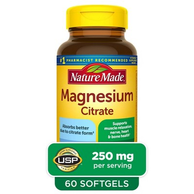 Nature Made Magnesium Citrate 250 mg Softgels - 60ct