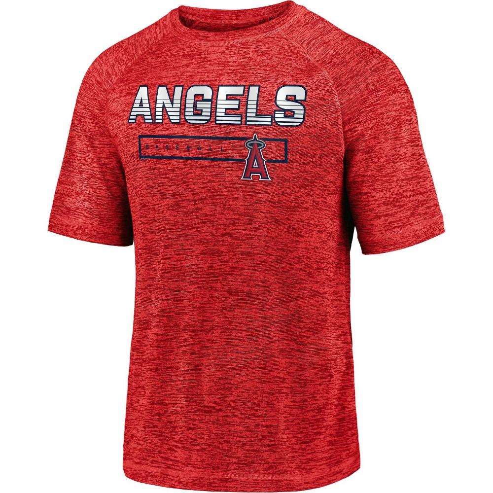 Mlb Los Angeles Angels Men 39 S Short Sleeve Striated Athleisure T Shirt L