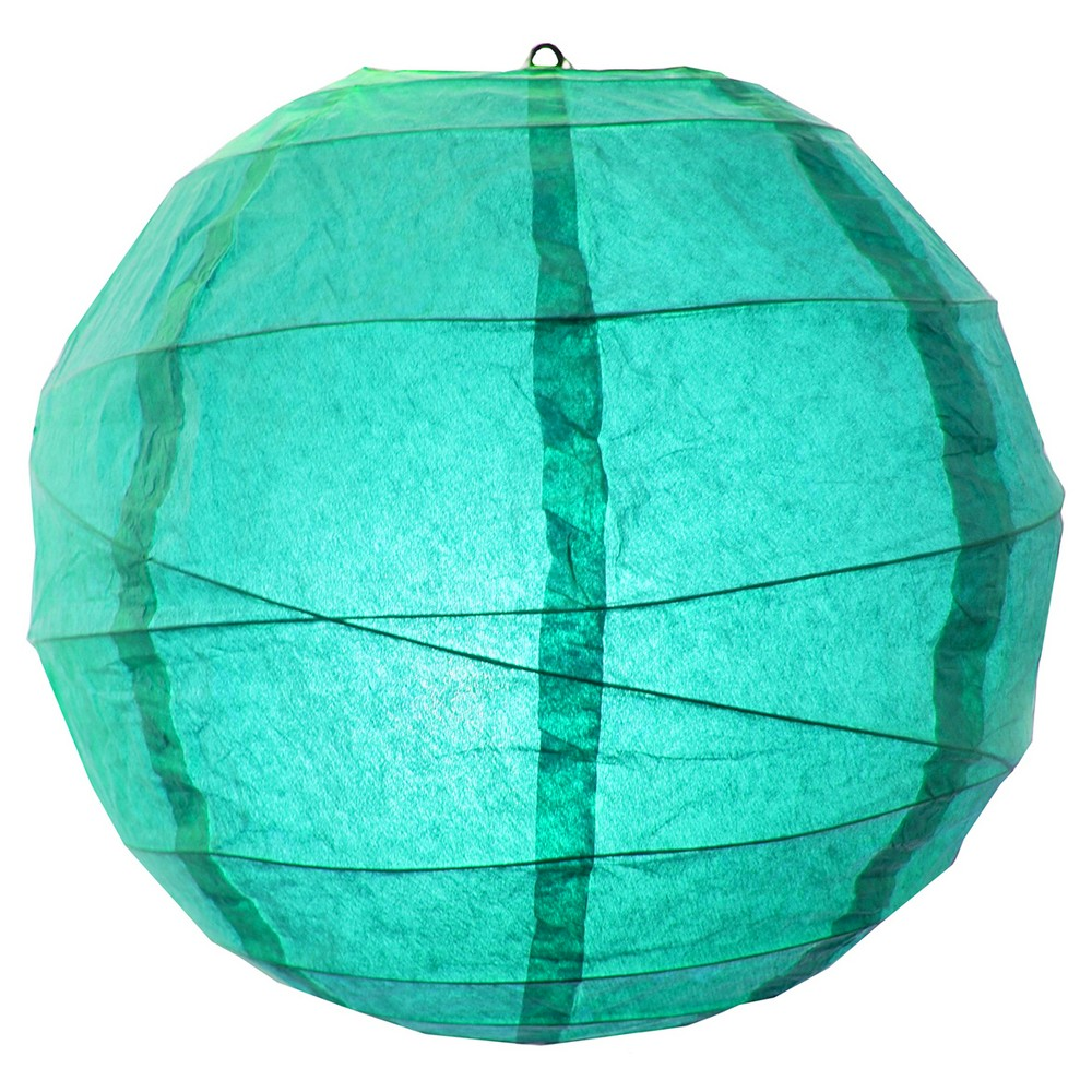 5ct Crisscross Paper Lanterns (12') Turquoise, Green
