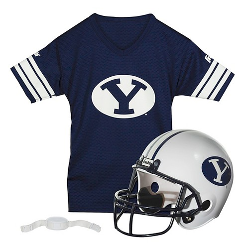 new concept 707bc 25e83 Franklin Sports NCAA Team Helmet and Jersey Set - Ages 5-9 - BYU Cougars
