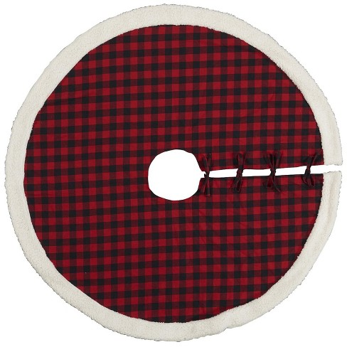 Holiday Red Plaid Tree Skirt