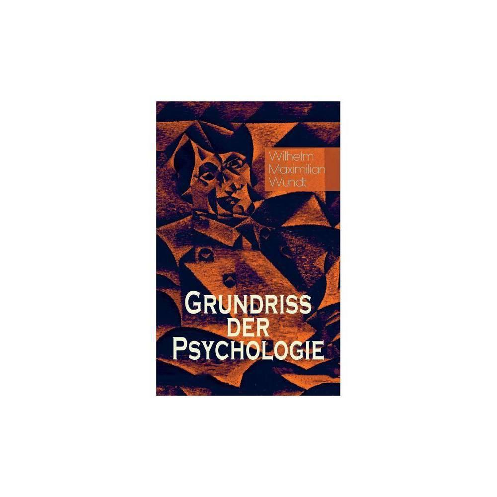 Grundriss Der Psychologie By Wilhelm Maximilian Wundt Paperback