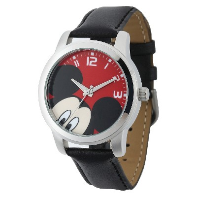 Men's Disney Mickey Mouse Casual Watch with Alloy Case - Black