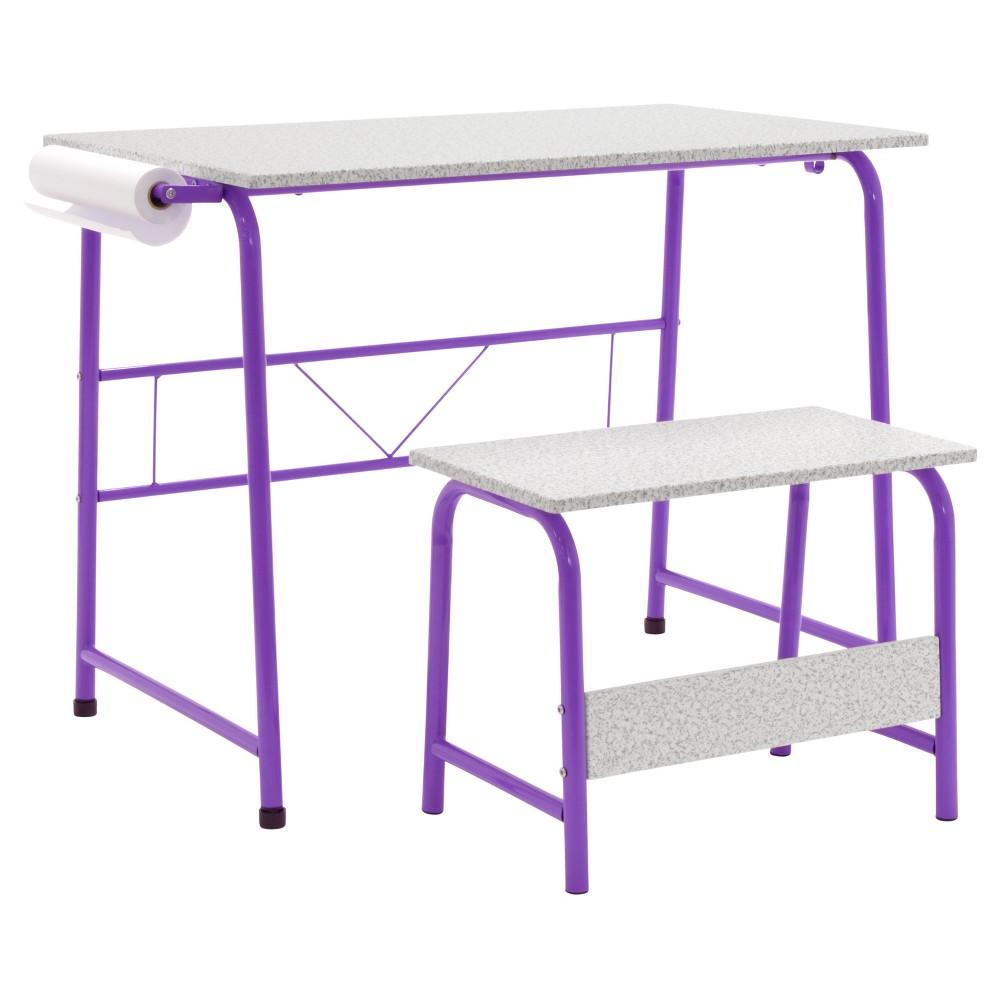 Image of 2pc Canvas & Color Art Center & Bench Purple/Gray - Studio Designs