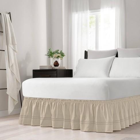 Wrap Around Baratta Stitch Ruffled Bed Skirt - EasyFit™ - image 1 of 4